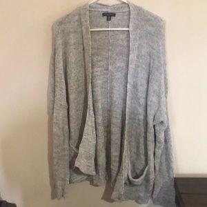 Gray pocket cardigan